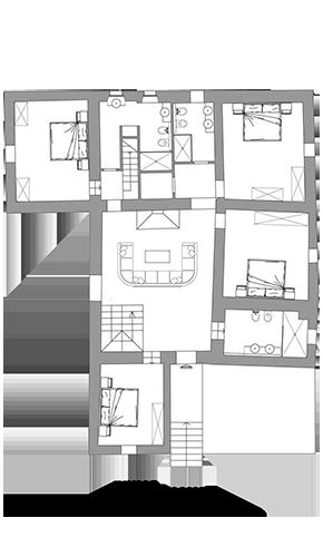 Lisidor - planimetria piano primo