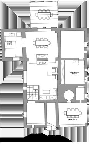 Lisidor - planimetria piano terra