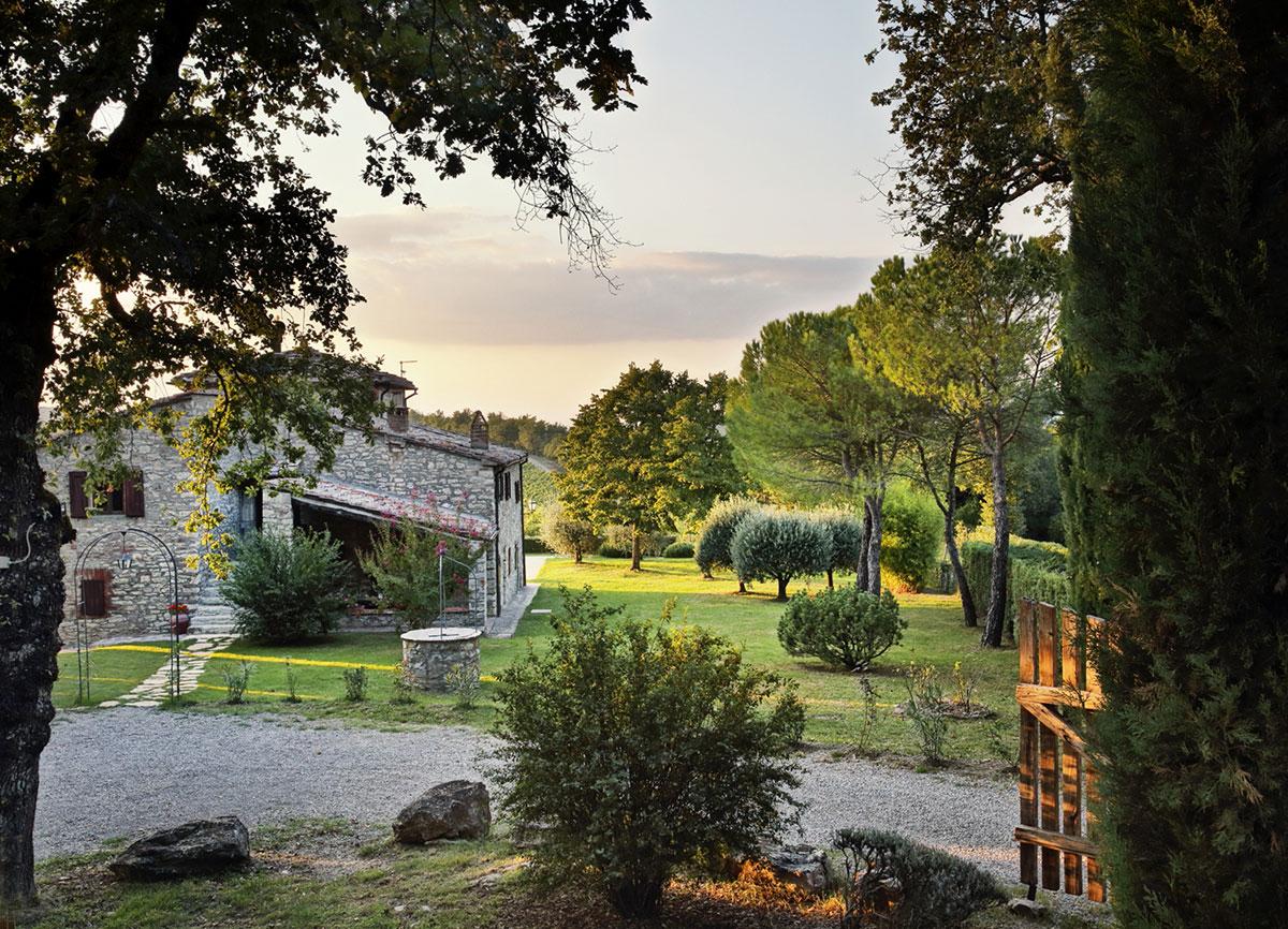 Toscana villa LisiDor giardino