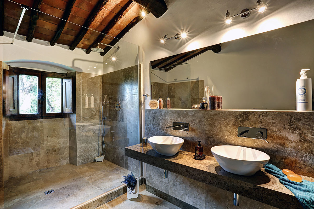 Bagno villa Lisidor nel Chianti